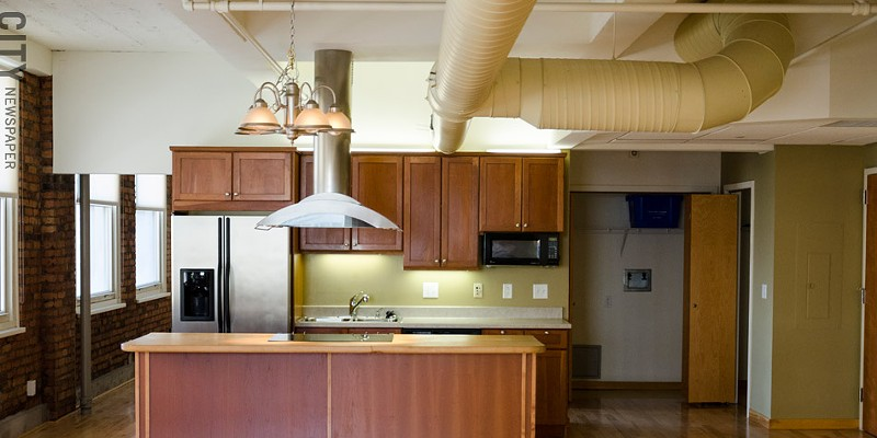 [ Slideshow ] Rochester's Apartment Boom A kitchen in the Temple Building PHOTO BY MARK CHAMBERLIN
