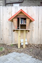 A Little Free Library on site at the Dewey and Ravine avenues park. - PHOTO BY MARK CHAMBERLIN