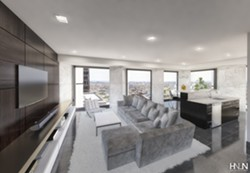 A living unit in the renovated Chase Tower. - PROVIDED IMAGE