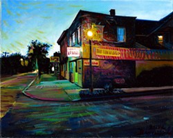 A painting by Darren Brennessel of the corner of Winton Road and Heather Street. - PHOTO PROVIDED