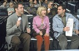 FOX SEARCHLIGHT PICTURES - A rare outburst: Will Ferrell, Radha Mitchell, and Steve Carell in Melinda and Melinda.