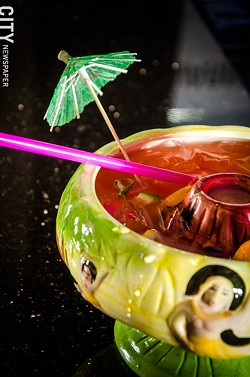 A Scorpion Bowl at Umi. - PHOTO BY MARK CHAMBERLIN