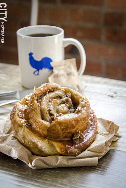 A sticky bun from the Village Bakery and Cafe. - PHOTO BY MARK CHAMBERLIN