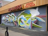 "PHOTO PROVIDED - A work by Italian artist, Peeta, created on North Clinton Avenue during FUA Crew's 2011 B-Boy BBQ. Peeta will visit Rochester again this weekend for;""Wall Therapy: Writes of Spring."""
