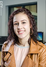 PHOTO BY MARK CHAMBERLIN - Adalis Santiago says that most students at West Irondequoit High School don't know that she's part of the Urban-Suburban program.