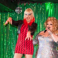 Facelift Fridays Drag Show Ambrosia Salad and Miss Darienne Lake PHOTO BY JOHN SCHLIA