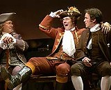 Among the large, splendid cast of 1776: David Silberman as Benjamin Franklin, John Bolton as Richard Henry Lee, and James Brennan as John Adams