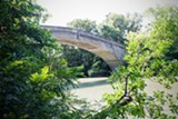 PHOTO BY RICHARD MARGOLIS - An Olmstead pedestrian bridge in Genesee Valley Park.