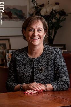 Ann Marie Cook, president and CEO, Lifespan. - PHOTO BY JOHN SCHLIA