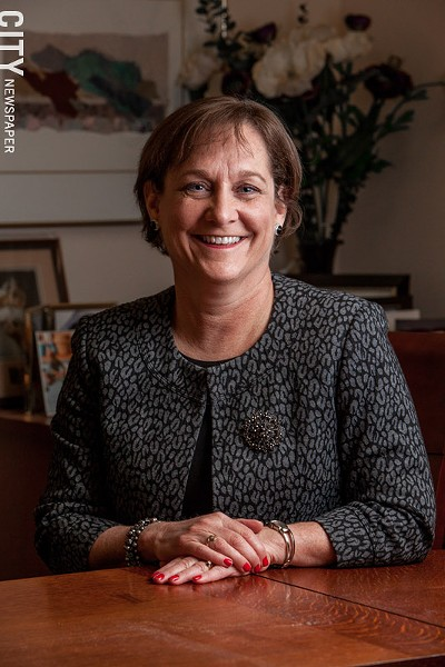 Ann Marie Cook, president and CEO, Lifespan. - PHOTO BY JOHN SCHLIA