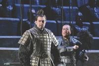 """Appearing in Tan Dun's """"The - First Emperor"""": Placido Domingo, Hao Jiang Tian. - KEN HOWARD/METROPOLITAN OPERA"""