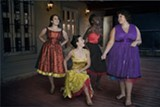 "PHOTO BY MIGUEL GARCIA VICENTE - Ariana Rivera, Amanda Nelson, Brianna Smith, and Yvana Melendez appear in the RAPA and Rochester Latino Theatre Company production of ""West Side Story."""