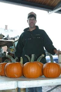 At the Public Market: Rush farmer Jeff Warner. - KRESTIA DEGEORGE<