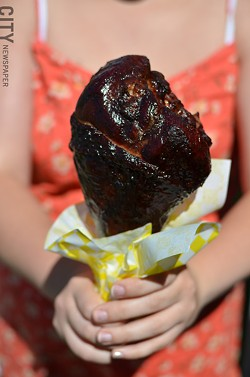 BBQ turkey leg. - PHOTO BY MATT DETURCK