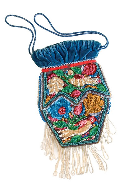 Beaded bag (circa 1860), likely created by a Seneca woman with no formal art training to sell to tourists visiting the Niagara Falls region. - PHOTO PROVIDED