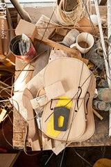 Bernie Lehmann's workshop. - PHOTO BY JOHN SCHLIA
