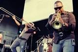 Big Sam's Funky Nation played Harro East Ballroom Tuesday, June 26. PHOTO BY FRANK DE BLASE