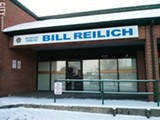 PHOTO BY JEREMY MOULE - Bill Reilich's empty office in the Greece Towne Centre plaza.