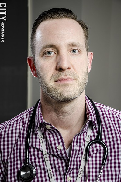 Bill Schaefer, a physician's assistant with Trillium Health, says despite advances in the treatment of HIV, it's still a serious health issue. - PHOTO BY MARK CHAMBERLIN
