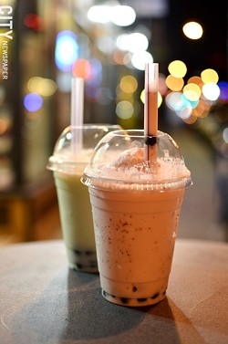 Boba smoothies from Whatta-Bahn Mi. - PHOTO BY MATT DETURCK