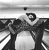 "Bowling for porcupine: Zooey Deschanel and Paul Schneider in ""All the Real Girls"""