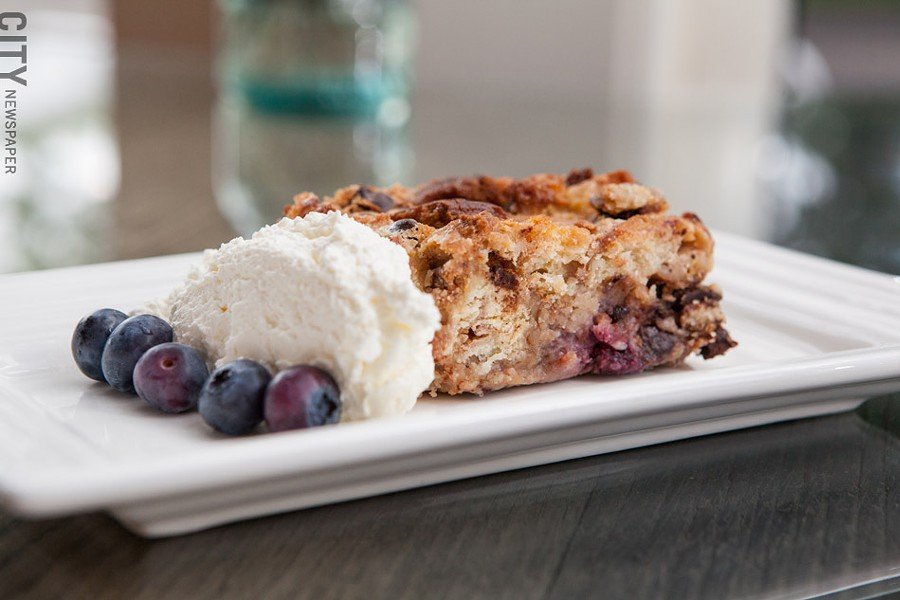 Bread Pudding at Atlas Eats. - PHOTO BY JOHN SCHLIA