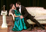 "PHOTO BY STEVEN LEVINSON - Brynn Lucas and Jake Purcell in ""Funny Girl,"" now at the JCC CenterStage."