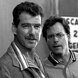 THE WEINSTEIN COMPANY - Can you see the empurplement in the air? Pierce Brosnan and Greg Kinnear.