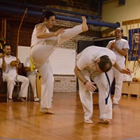Capoeira at Com Expressao  PHOTO BY LARISSA COE
