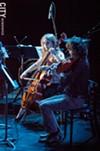Cellist Nadine Sherman and violist Alex Pena.