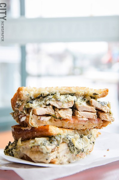 Chicken florentine panini - PHOTO BY MARK CHAMBERLIN