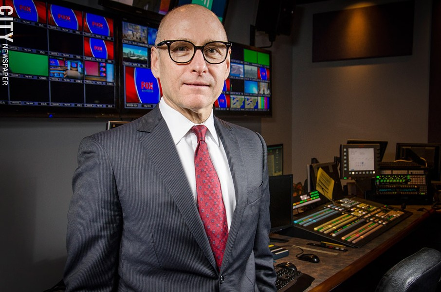 Chuck Samuels, general manager for WHAM Channel 13, says the station will move its morning and 10 p.m. newscasts to WUHF Channel 31. - PHOTO BY MARK CHAMBERLIN