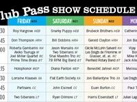 Club Pass Schedule Chart