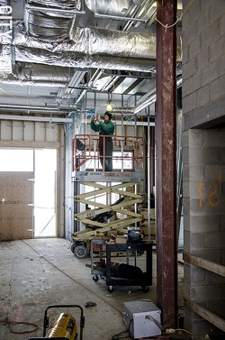 Construction at The Reserve, in Brighton. - PHOTO BY MARK CHAMBERLIN