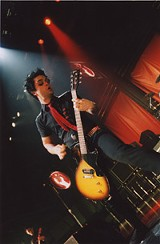 PHOTO BY FRANK DE BLASE - Cool move of the week: Billie Joe Armstrong at Blue Cross Arena.