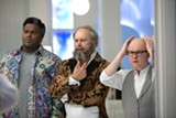 """PHOTO COURTESY PARAMOUNT PICTURES - Craig Robinson, Rob Corddry, - and Clark Duke in """"Hot Tub Time Machine 2."""""""