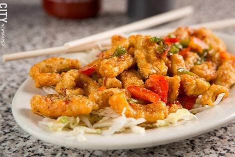 Crispy squid at SEA Restaurant. - PHOTO BY JOHN SCHLIA