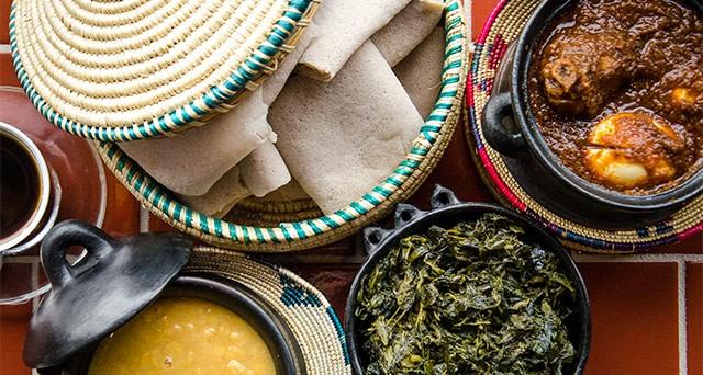 Cuisine from Taste of Ethiopia.