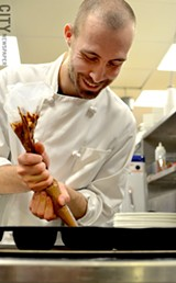 David Baran, pastry chef of Char Steak & Lounge at the Strathallan - PHOTO BY MATT DETURCK