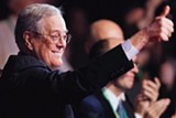 """PHOTO COURTESY VARIANCE FILMS - David Koch in """"Citizen Koch."""""""
