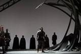 "PHOTO BY KARLI CADEL/THE GLIMMERGLASS FESTIVAL - David Pittsinger as King Arthur in Glimmerglass Festival's 2013 production of ""Camelot."""