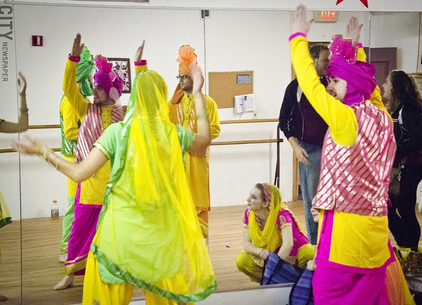"""Day of Dance"" performers in a practice space. - PHOTO BY MARK CHAMBERLIN"