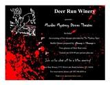 Deer Run Murder Mystery Dinner Flyer