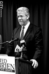 Democratic State Senate candidate Ted O'Brien has been targeted by a shadow group. FILE PHOTO