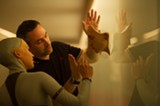 """PHOTO PROVIDED - Director Alex Garland with actress Alicia Vikander on the set of """"Ex Machina."""""""