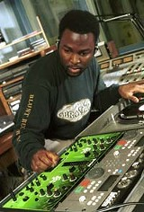 DJ Dorian Hall in the studio.