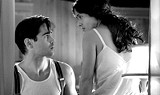 "PARAMOUNT CLASSICS - Easy on the orbs: Colin Farrell and Salma Hayek in ""Ask the Dust."""