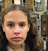 """COURTESY SHIPPING DOCK THEATRE - Elizabeth Criddle as Esther in Shipping Dock's """"Witness."""""""