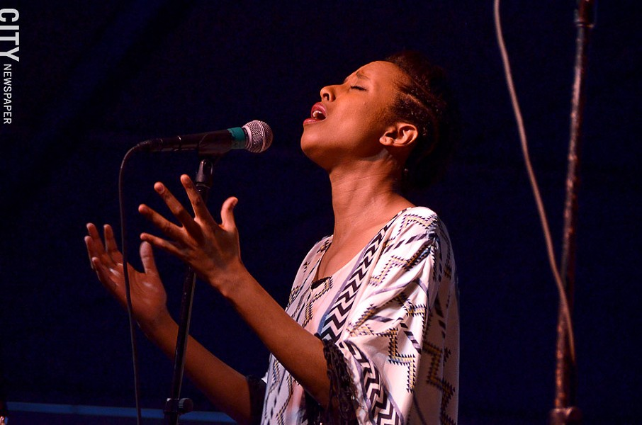 Ester Rada performed at the Unity Health Big Tent. - PHOTO BY MATT DETURCK