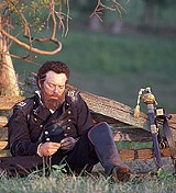 """Even the actors are bored: Stephen Lang in """"Gods and Generals."""""""